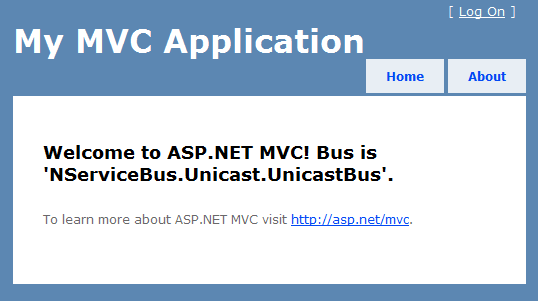 MVC with NServiceBus